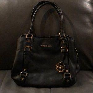 Michael Kors black leather